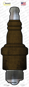 Brown Oil Rubbed Wholesale Novelty Spark Plug Sticker Decal