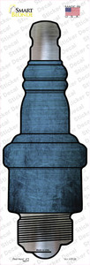 Light Blue Oil Rubbed Wholesale Novelty Spark Plug Sticker Decal