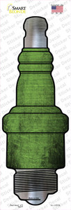 Lime Green Oil Rubbed Wholesale Novelty Spark Plug Sticker Decal