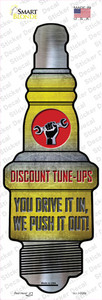Discount Tuneups Wholesale Novelty Spark Plug Sticker Decal