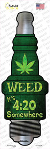 Weed Wholesale Novelty Spark Plug Sticker Decal
