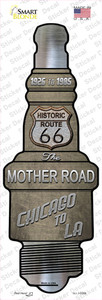 Route 66 Wholesale Novelty Spark Plug Sticker Decal