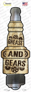 Grease And Gears Wholesale Novelty Spark Plug Sticker Decal
