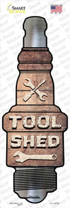 Tool Shed Wholesale Novelty Spark Plug Sticker Decal