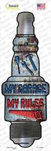 My Garage My Rules Wholesale Novelty Spark Plug Sticker Decal