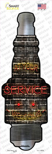 At Your Service Wholesale Novelty Spark Plug Sticker Decal