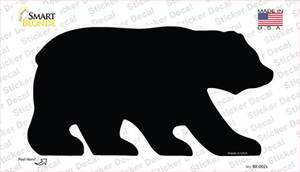 Black Solid Wholesale Novelty Bear Sticker Decal