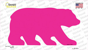 Pink Solid Wholesale Novelty Bear Sticker Decal