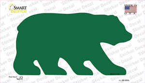 Green Solid Wholesale Novelty Bear Sticker Decal
