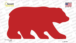 Red Solid Wholesale Novelty Bear Sticker Decal