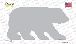 Gray Solid Wholesale Novelty Bear Sticker Decal