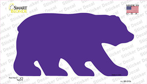 Purple Solid Wholesale Novelty Bear Sticker Decal