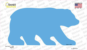 Light Blue Solid Wholesale Novelty Bear Sticker Decal