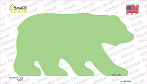 Lime Green Solid Wholesale Novelty Bear Sticker Decal