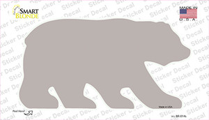 Tan Solid Wholesale Novelty Bear Sticker Decal