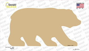 Gold Solid Wholesale Novelty Bear Sticker Decal