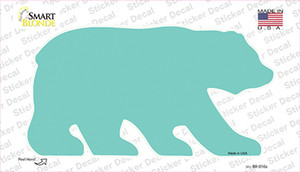 Teal Solid Wholesale Novelty Bear Sticker Decal