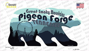 Pigeon Forge Scenic Wholesale Novelty Bear Sticker Decal