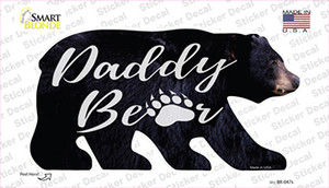 Daddy Paw Wholesale Novelty Bear Sticker Decal