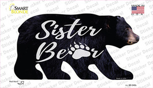 Sister Paw Wholesale Novelty Bear Sticker Decal