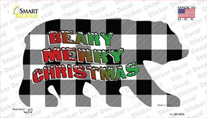 Beary Merry Christmas White Wholesale Novelty Bear Sticker Decal