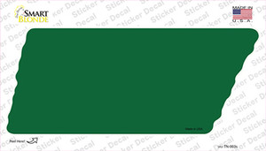 Green Solid Wholesale Novelty Tennessee Shape Sticker Decal