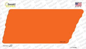 Orange Solid Wholesale Novelty Tennessee Shape Sticker Decal