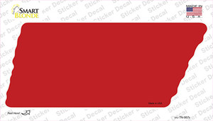 Red Solid Wholesale Novelty Tennessee Shape Sticker Decal