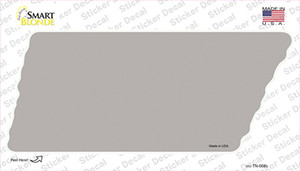 Gray Solid Wholesale Novelty Tennessee Shape Sticker Decal