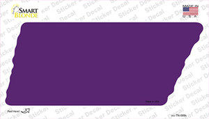 Purple Solid Wholesale Novelty Tennessee Shape Sticker Decal