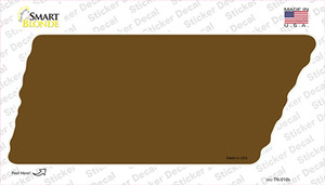 Brown Solid Wholesale Novelty Tennessee Shape Sticker Decal