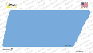 Light Blue Solid Wholesale Novelty Tennessee Shape Sticker Decal