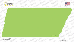 Lime Green Solid Wholesale Novelty Tennessee Shape Sticker Decal