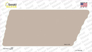 Tan Solid Wholesale Novelty Tennessee Shape Sticker Decal