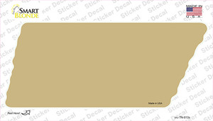 Gold Solid Wholesale Novelty Tennessee Shape Sticker Decal