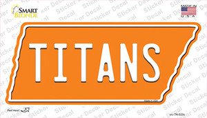 Titans Wholesale Novelty Tennessee Shape Sticker Decal