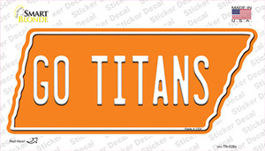 Go Titans Wholesale Novelty Tennessee Shape Sticker Decal