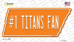 Number 1 Titans Fan Wholesale Novelty Tennessee Shape Sticker Decal