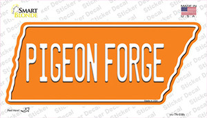 Pigeon Forge Wholesale Novelty Tennessee Shape Sticker Decal