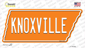 Knoxville Wholesale Novelty Tennessee Shape Sticker Decal
