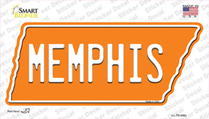 Memphis Wholesale Novelty Tennessee Shape Sticker Decal