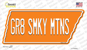 Gr8 Smky Mtns Wholesale Novelty Tennessee Shape Sticker Decal