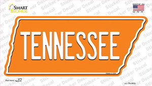 Tennessee Wholesale Novelty Tennessee Shape Sticker Decal