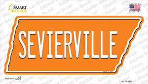 Sevierville Wholesale Novelty Tennessee Shape Sticker Decal