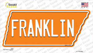 Franklin Wholesale Novelty Tennessee Shape Sticker Decal