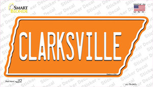 Clarksville Wholesale Novelty Tennessee Shape Sticker Decal