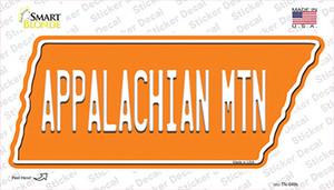 Appalachian Mtn Wholesale Novelty Tennessee Shape Sticker Decal