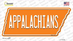 Appalachians Wholesale Novelty Tennessee Shape Sticker Decal