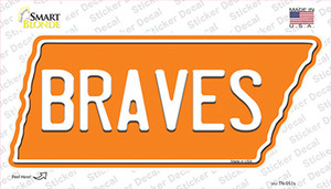 Braves Wholesale Novelty Tennessee Shape Sticker Decal