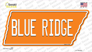 Blue Ridge Wholesale Novelty Tennessee Shape Sticker Decal